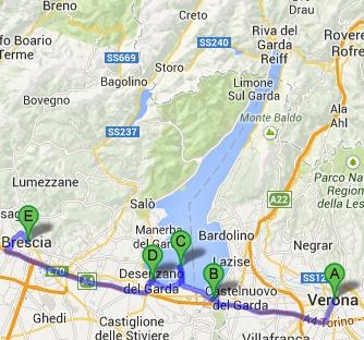 Brescia - Desenzano - Sirmione - Peschiera - Verona