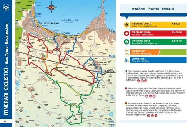 fahrradwege gardasee karte Bike Routen Gardasee Süd   VisitGarda