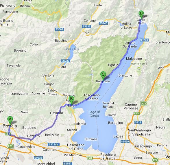 Brescia - Gargnano - Riva d/G